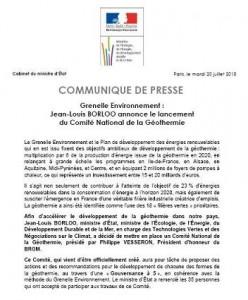 EcoDesignInfos (Grenelle) : Comité National de la Géothermie