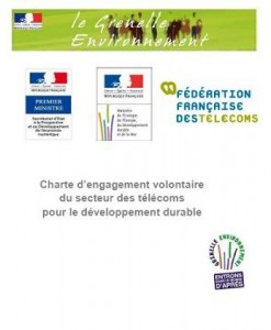 EcoDesignInfos (Grenelle) : charte d'engagement du secteur telecom Green IT